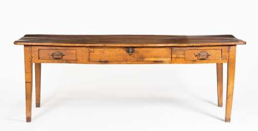 "French E19thC Farm Table 7"" 4"" Long"