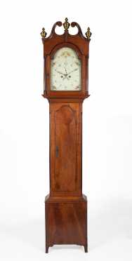 Pennsylvania Cherry Tall Clock with Eight Day Brass Works