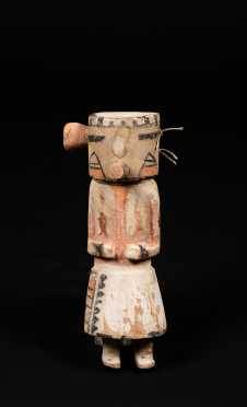 "Early ""Kachina"" Carved and Painted Figure"