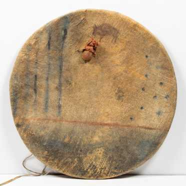 Important Plains Native American Decorated Shield Cover