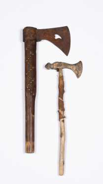 Two Native American Style Tomahawks