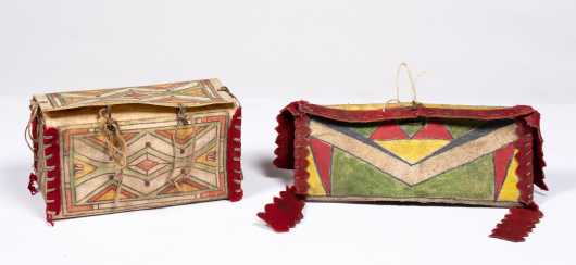 Native American Parfleche Box and Wallet