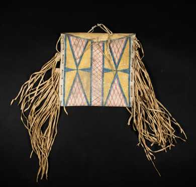 Native American Parfleche Teepee Storage Bag