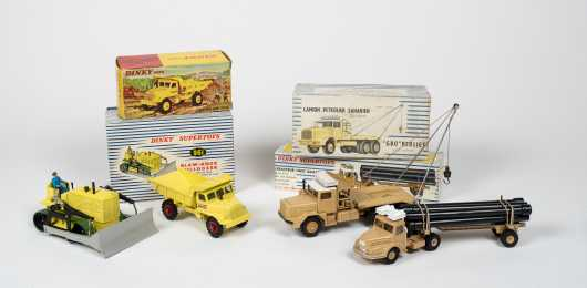 """Lot of Four """"Dinky Toys"""" Boxed Trucks"""