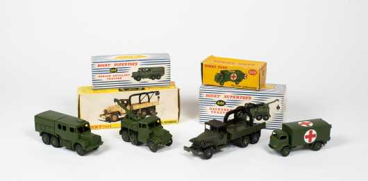 """Lot of Four """"Dinky Toys"""" Military Vehicles"""