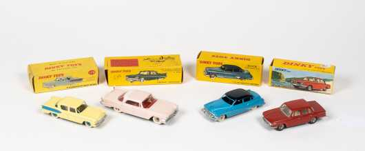 """Lot of Four """"Dinky Toys"""" Boxed Cars"""