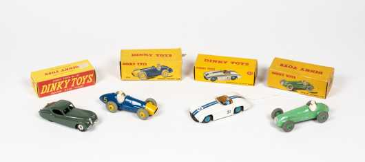 """Lot of Four """"Dinky Toys"""" Boxed Race Cars"""