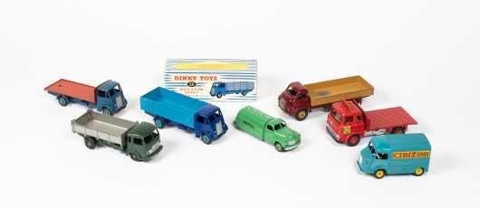 "Lot of Seven ""Dinky Toys"" Trucks"