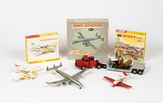 """Lot of Four """"Dinky Toys"""" Airplanes"""