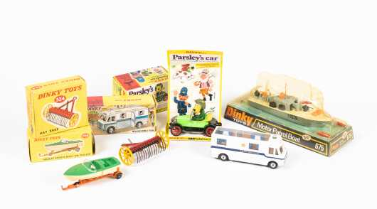 """Lot of Five """"Dinky Toys"""" Miscellaneous Items"""