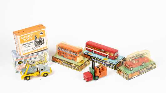 """Lot of Five """"Dinky Toys"""" Work Vehicles"""