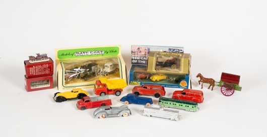 Fourteen Miscellaneous Boxes and Cars
