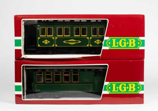 Lehmann-Gross-Bahn LGB Lot of Two Passenger Cars
