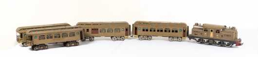 Lionel Standard Gauge #402 Electric Outline Locomotive Mojave with Three Cars