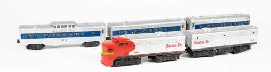 "Lionel ""O"" Gauge Santa Fe Electric Diesel Train Set"