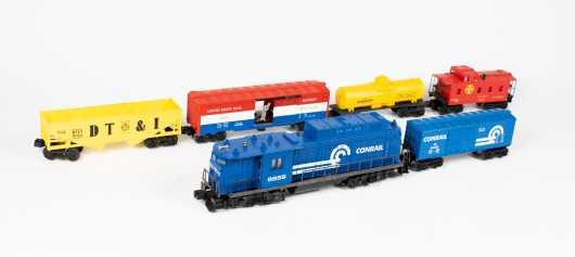 """Lionel """"O"""" Gauge Conrail Electric Diesel #8859 with Five Cars"""