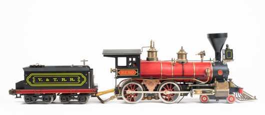"""""""Aster Model Locomotive Works"""" """"Reno"""" """"V & T.R.R"""", Model """"1872 Virginia & Truckee RR"""""""