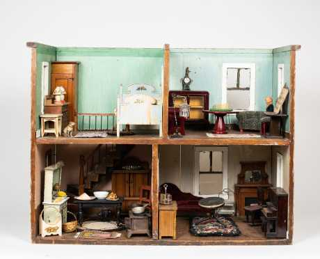 1930s Four Room Diorama with Furniture