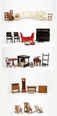 Large Lot of Doll House Furniture