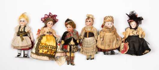 Six Miscellaneous Dolls