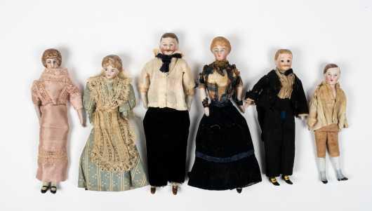 Six Doll House Dolls