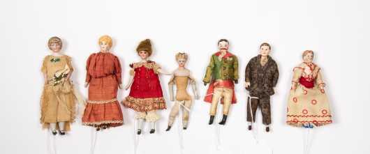Seven Doll House Dolls