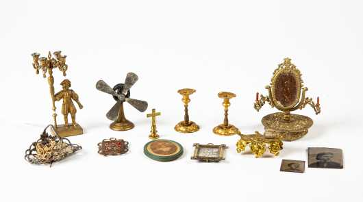 Miscellaneous Doll House Soft Metal and Ormolu Items