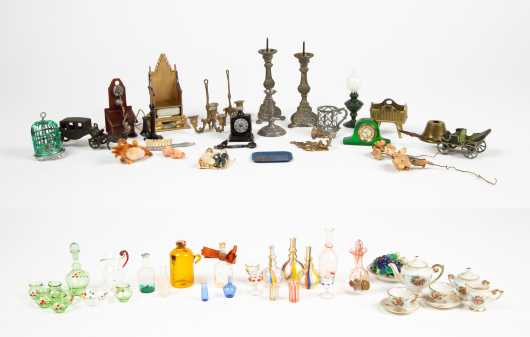 Large Lot of Doll House Glassware