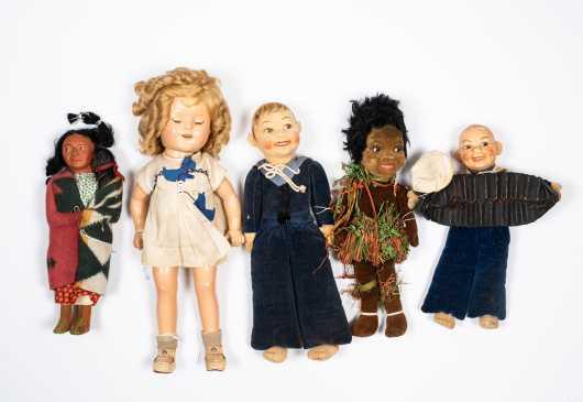 Lot of Five Dolls