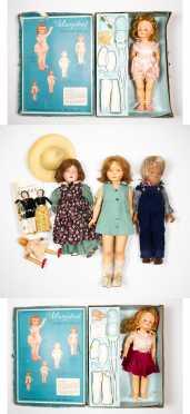 Lot of Six Dolls