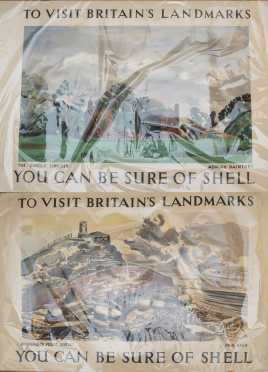 """Two """"Shell"""" - """"Visit Britain"""" Travel Posters"""