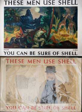 """Two """"These Men Use Shell"""" Posters"""