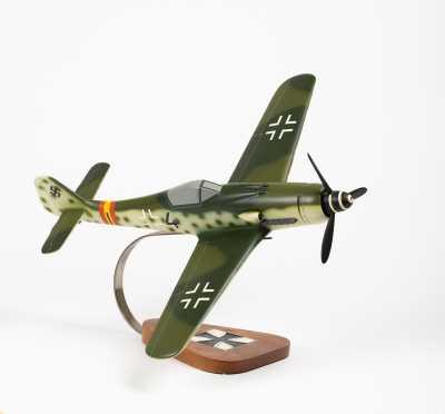 """Focke-Wulf FW-190 Scale Model , 17"""" wingspan, 16 1/2"""" length"""