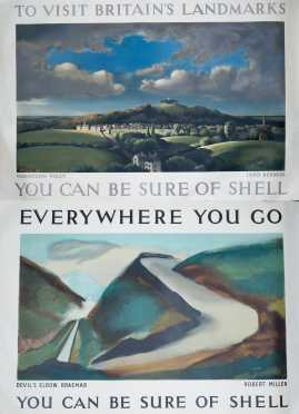 """Two """"Shell"""" British Travel Posters"""
