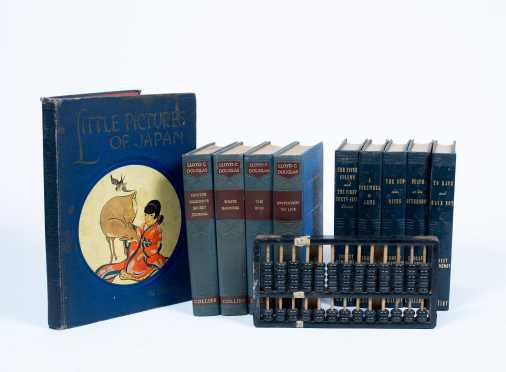 Lot of Books and Chinese Abacus