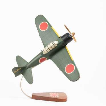 "Mitsubishi Zero Scale Model , 16 1/2"" wingspan, 14 1/2"" length"