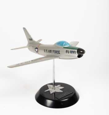 """North American Aviation F-86D Sabre Jet Scale Model   11"""" wingspan, 12 1/2"""" length"""