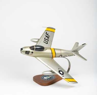 """North American Aviation F-86E Sabre Jet Scale Model """"Gabby"""", 15"""" wingspan, 15"""" length"""