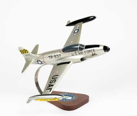 "Lockheed T-33A Shooting Star Scale Model, 16"" wingspan, 14 1/2"" length"