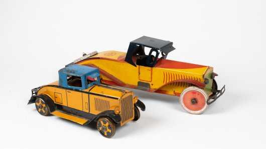 "Two ""Marx"" Tin Roadsters"