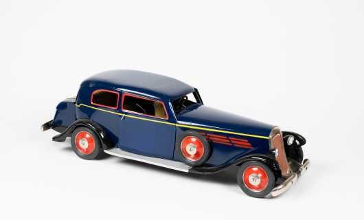 1970s French Blue Model of Older Peugeot