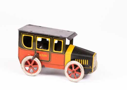 """Rare """"Mohawk Toy Co"""" - """"US"""" Windup Tin Sedan"""
