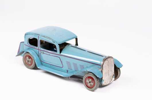 "English Blue Tin ""XY-1142"" Two Door Car"