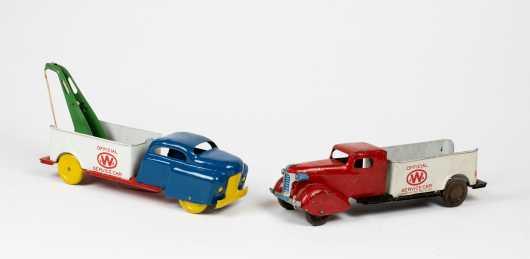 "Two ""Wyandotte Toys"" Service Car"