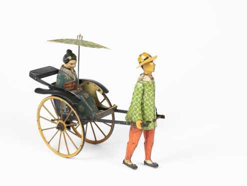 """""""Lehmann"""" Tin Matsuyama Geisha in Rickshaw"""