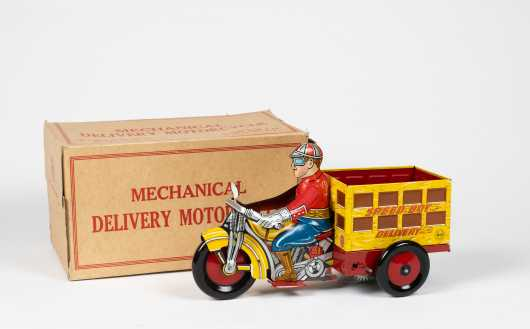 """""""Marx"""" Speed Boy Delivery Motorcycle with Original Box"""