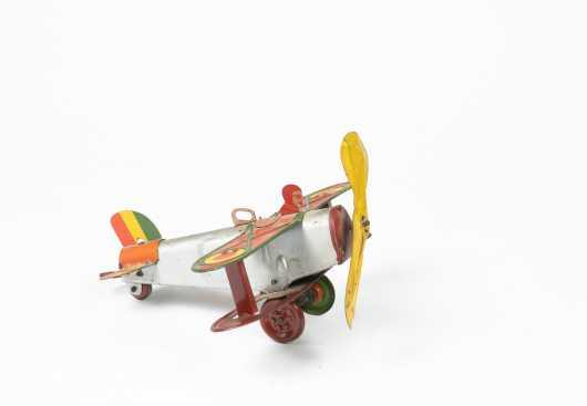 Louis Marx Tin Windup Bi-Plane