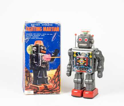 """""""Fighting Martian"""" Robot- Mint in the Box"""