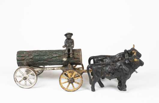 """""""Kenton"""" Cast Iron Oxen Team and Wagon"""