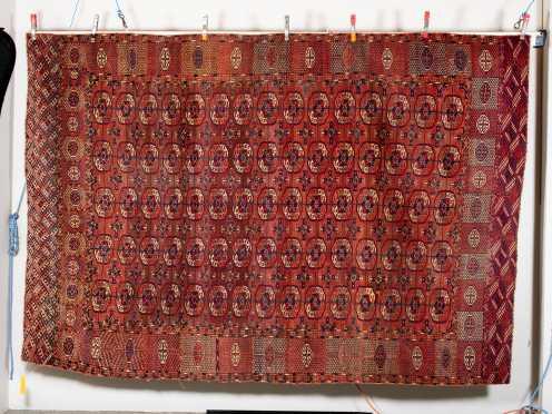 Antique Tekke Bokhara Room Size Oriental Rug